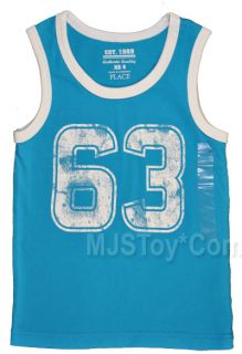 Children's Place Sleveless Number Tank Top Shirt