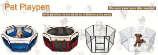 D90XH37CM Small Fabric Pet Dog Puppy Rabbit Playpen Run Cage Red Play Pen