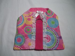 Handmade Small Dog Puppy Pink Clothes Pet Harness Dog Supplies Length 5 1 2""