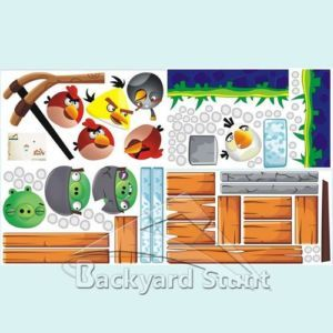 New Angry Birds Wall Stickers Decals 10ft x 5ft Children Classroom Decoration US