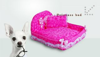 Final Sale Cozy Pink Princess Waterproof Cat Dog Pet House Pet Bed