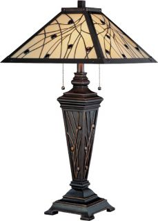 Lite Source Remus Dark Bronze Tiffany Table Lamp C41117