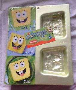 Wilton Spongebob Squarepants Iridescent Mini Treats Pan Candy Gelatin Cake