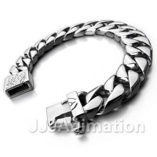 Huge Heavy Men Stainless Steel Bracelet Link Chain Cuff