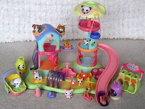 Hasbro LPS Littlest Pet Shop Playground Playset Lot 17 Slide Treat Center