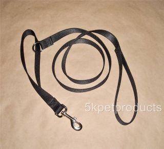 Nylon Dog Leash with Traffic Handle 4 ft 6 ft or 10 ft Two Handle Dog Leash
