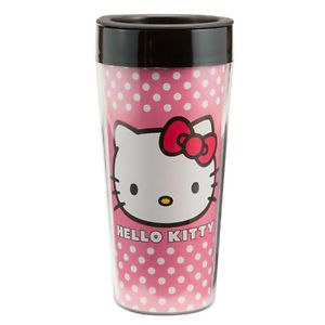 Hello Kitty Sanrio 16oz Plastic Travel Coffee Tea Mug