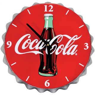 New Coke Coca Cola Bottlecap Wall Clock Retro Metal Home Kitchen Decor Accent