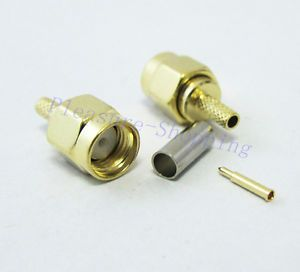 10pcs SMA Male RF Coaxial Conector for RG316 RG174 Cable Wire Connector