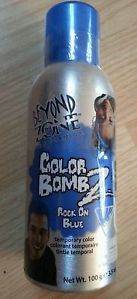 Beyond The Zone Rock on Blue Spray Temporary Hair Color Color Bomb Z