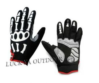 Cool New Bicycle Full Finger Gloves Padded Leather Bike Sports Cycling M L XL