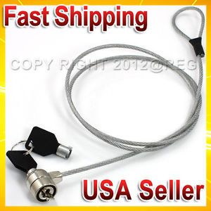 Notebook Laptop Computer PC Security Anti Theft Lock Cable Chain with Two Keys