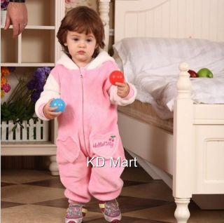 New Baby Boy Girl Animal Fleece Costume Pajamas Sleepwear Outfit Sze 00 0 1 2