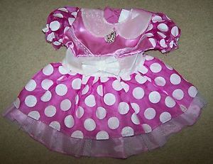 Infant Girls Disney Minnie Mouse Dress Costume Bright Pink Size 12 18 Months