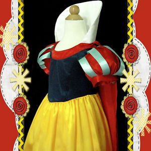 88 Baby Snow White Princess Thanksgiving Party Girls Costume Dress 3 4 5 6 7 8T