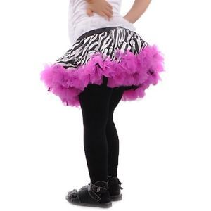 Beautiful Girls Baby Child Zebra Princess Ballet Dance Costume Tutu Dress Skirt