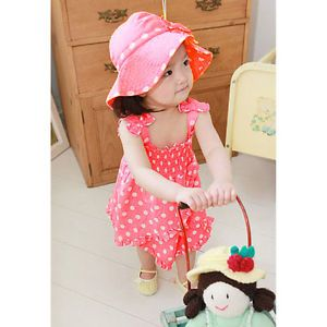 3pcs Kid Infant Baby Girl Dress Pants Hat Set Outfit Costume Clothes 0 36M