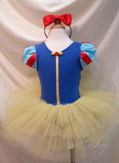 Halloween Disney Princess Snow White Girls Kids Pary Costume Ballet Dress 2 10Y