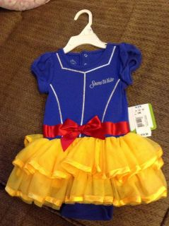 Disney Princess Baby Girl Snow White Onesie Tutu Costume Dress 12 Months