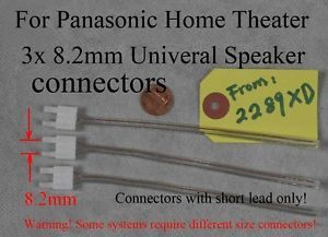 3 Panasonic Home Theater Speaker Cable Wire Connectors