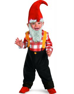 Garden Gnome Baby Boys Halloween Party Fancy Costume Beard Toddlers 2T