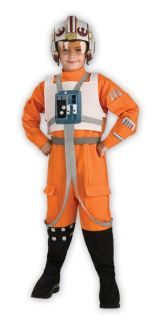 Star Wars x Wing Fighter Pilot Child Costume Jumpsuit Kids Theme Party Halloween