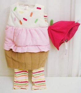 New Old Navy Cupcake Costume 12 24M 4T 5T Baby Toddler Halloween Food Dessert