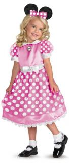 Minnie Mouse Pink Girls Toddler Costume Polka Dot Dress