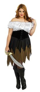 Womens Full 16 22 Plus Size Buccaneer Babe Adult Costume Pirate Costumes