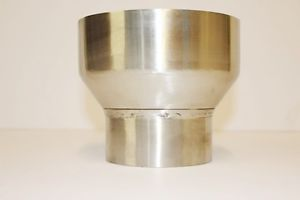 "Exhaust Reducer Stainless Steel 4"" inch to 6"" inch Tube Adapter Pipe Flue Stack"