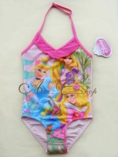 Girls Size 2 6 Princess Swimsuit Swimwear Bathing Suit Tankini Swimming Costume