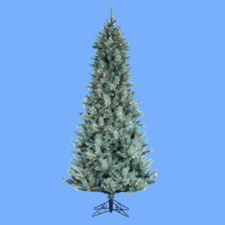 7 5' Pre Lit Artificial Blue Spruce Christmas Tree CLR