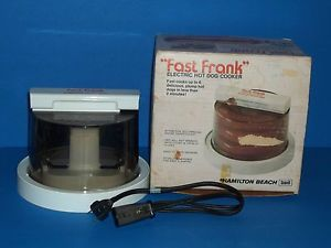 Fast Frank Hot Dog Cooker Steamer Hamilton Beach Scovill 489 USA Awesome Cond