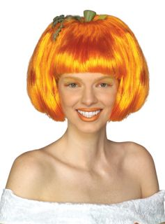 Orange Pumpkin Spice Adult Wig for Halloween Costume
