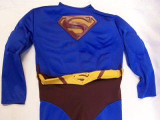 Boys Size XL 14 16 Superman Halloween Costume Molded Chest Muscle Arms 1 PC Nice