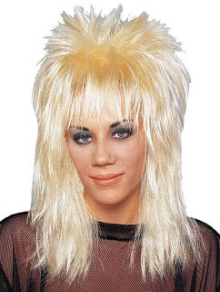 80s Heavy Metal Glam Rock Star Poison Unisex Rocker Wig Blonde