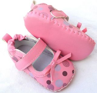 Mary Jane Pink Kids Toddler Baby Girl Shoes Size 1 2 3
