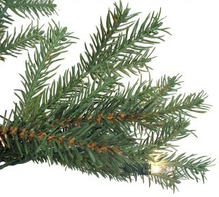 6 5' Pre Lit White Pine Fir Artificial Christmas Tree Clear Lights