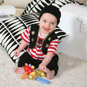 Baby Girls Boys Pirate Costume Fancy Dress Outfit Age 6 12 12 18 Months