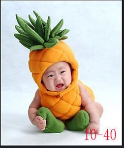 Baby Infant Kids Pineapple Cute Party Costume Set Photography Prop Halloween