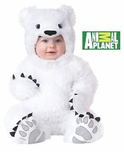 10012 White Cute Super Soft Baby Polar Bear Infant Halloween Costume 12 18 MO