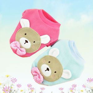 Lovely Bear Baby Sweater Pet Dog Clothes Polar Fleece Coat Dog Costume