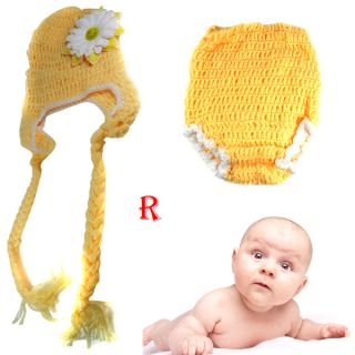 Toddler Kids Baby Photo Prop Knit Crochet Hat Cap Beanie Animal Costume 0 12M