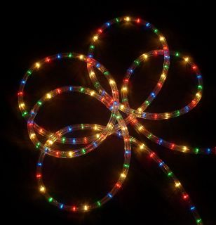 27' Multi Color Christmas Party Rope Lights 8 Functions