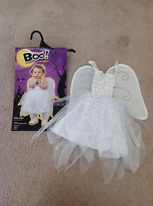 Baby Girls Baby Angel Halloween Costume with Wings Size 12 18 24 Months