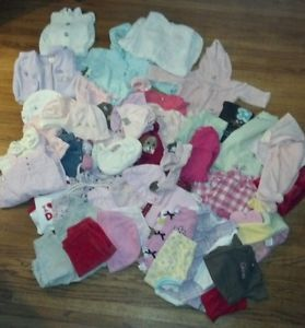 Large Lot of Baby Girl Clothes Size 0 3 3 6 Months So Cute