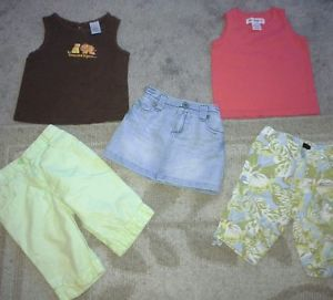18 Month Toddler Girls Clothes Lot Gymboree Baby Gap etc Summer Tanks Skirt