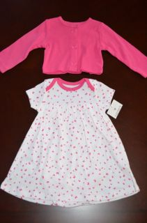 Perfect for Easter Baby Infant Girls 6months Pink White One Piece Dress Sweater
