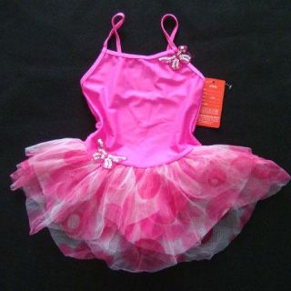 Pink Butterfly Girl Fairy Ballet Dance Party Costume Swim Tutu Skirt Dress 5 6Y