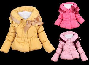 Baby Girls Toddler Outwear Clothes Kids Winter Jacket Coat Snowsuit 1 5Year